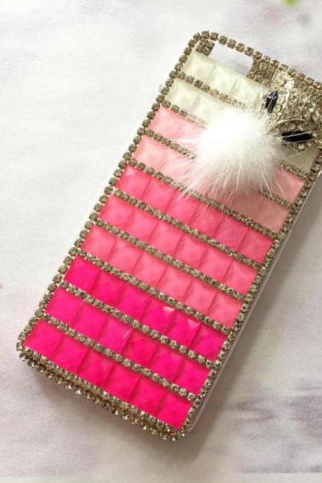 Fox crystal iphone 6 6s 4.7 bling crystal case, bling iphone 6 6s crystal case, iphone SE, iphone 5c, 5, 5s bling case, samsung galaxy S4, S5, S6, S6 Edge, S7, S7 Edge, Note 3, Note 4, Note 5, bling crystal case, item no.117
