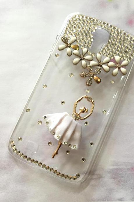 Dancing ballet crystal iphone 6 6s 4.7 bling crystal case, bling iphone 6 6s crystal case, iphone SE, iphone 5c, 5, 5s bling case, samsung galaxy S4, S5, S6, S6 Edge, S7, S7 Edge, Note 3, Note 4, Note 5, bling crystal case, item no.185